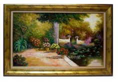 Salinas : Gardens. Medium: Oil on canvas Measurements (cm): 120x80 Canvas measurements (cm): 100x60 Interior frame: Yes. Impressionist painting of large dimensions, which shows us the qualities of this painter, his extensive colour palette and his good taste. A very decorative picture with an excellent quality-price.  $681.71