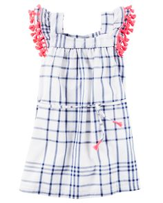 carters search results for tassel. Discover clothing essentials for your children at carters, the most trusted name in baby, toddler, & kids clothing. Kohls Dresses, Carters Dresses, Cute Girl Dresses, Toddler Girl Dresses, Toddler Girl Style, Toddler Girls, Little Girl Fashion, Fashion Kids, Plaid Dress