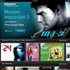 Amazon Releases Instant Video App for iPhone, iPod Touch