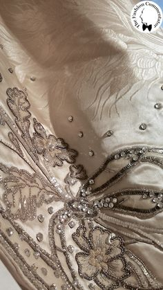 Court dress (image 7) | attributed to House of Worth | French | 1902 | silk damask, sequins | Galleria del Costume di Palazzo Pitti, Firenze | Belonged to Donna Franca Florio