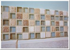 Love this glass and stone mosaic tile!