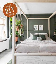Apartment Bedroom Decor, Home Bedroom, Girls Bedroom, Small Bedroom Inspiration, Condo Interior Design, Green Rooms, New Beds, Home And Deco, Dream Bedroom