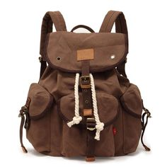 Casual Canvas Buckle Backpack Travel Bag|Fashion Backpacks - Fashion Bags - ByGoods.com