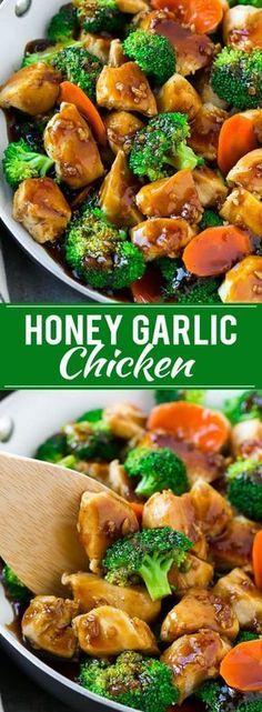 Honey Garlic Chicken Stir Fry | Chicken and Broccoli | Healthy Chicken Recipe | Stir Fry Recipe | Easy Chicken Recipe via @dinneratthezoo
