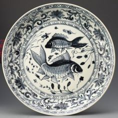 Lot: Large Yuan Chinese Blue and White Porcelain Dish, Lot Number: 6119, Starting Bid: $7,500, Auctioneer: Linwoods Auction, Auction: Fine Chinese Works of Art, Date: December 10th, 2014 +08