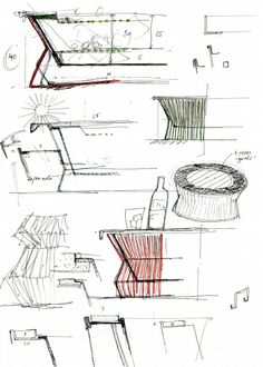 Kettal ZigZag -  Emiliana Design Studio Sketches Zig Zag, Markers, Sketches, Drawings, How To Make, Painting, Color, Design, Chaise Lounges