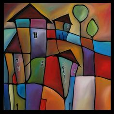 Somewhere Else  Original Large Abstract Contemporary by fidostudio, $600.00
