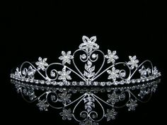 Bridal Rhinestone Crystal Pearl Flower Prom Wedding Tiara Crown ** You can find more details by visiting the image link.(This is an Amazon affiliate link and I receive a commission for the sales)