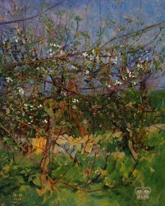 Sir George Clausen / Apple tree in blossom