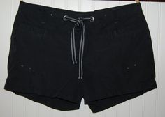 Columbia Omni Shade Shorts Womens Large L Black Drawstring #Columbia #CasualShorts