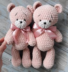 Teddy Bear Patterns Free, Crochet Amigurumi Free Patterns, Crochet Animal Patterns, Stuffed Animal Patterns, Crochet Toys, Free Crochet, Teddy Bear Clothes, Teddy Bear Toys, Baby Teddy Bear
