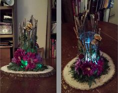 Wedding centerpiece!! By T&N Designs. Butterfly, flowers, enchanted forest, tea light