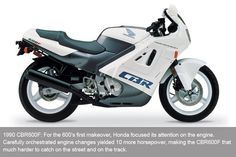 1990 Honda CBR600F. I loved this bike and miss it very much.