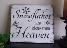 Snowflakes are Kisses From Heaven  9 1/2 x 10 1/2  by CheekySheep, $10.00