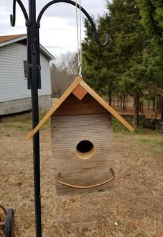 Check out this item in my Etsy shop https://www.etsy.com/listing/589680105/handmade-rustic-cedar-birdhouse