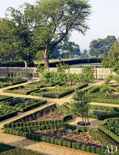 I would love to turn a vegetable garden into this : Architectural Digest