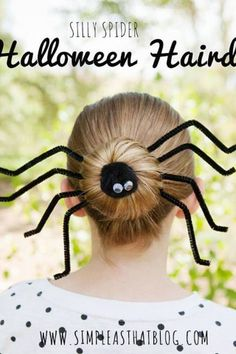 Halloween hair! I am so doing this to work on halloween, the kids are going to love it.