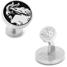 Disney Beauty & The Beast Silhouette Cuff Links (£51) ❤ liked on Polyvore featuring men's fashion, men's accessories, cuff links, silver and disney