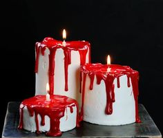 These Bloody Candle Cakes are as easy as they are spooky! Just a few simple ingredients and you are destined to be the coolest cake at your Halloween party! To make these cakes you will need: 9×13 cake any flavor (I used yellow cake) 3 1/2 inch round cookie cutter (4 inches would also work)...