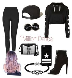 """""""1 Million Dance Studios"""" by riona-clancy ❤ liked on Polyvore featuring Topshop, River Island, Carianne Moore, Brixton, Givenchy and Jewel Exclusive"""