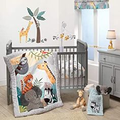 Amazon.com : baby crib bedding sets for girls Baby Crib Bedding Sets, White Nursery, Crib Sheets, Nursery Bedding, Baby Cribs, Crib Mattress, Jungle Theme Nursery, Nursery Themes, Nursery Ideas