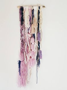 SAHASRARA // Dreamcatcher Driftwood Boho Braid Tassel Wall Hanging Textile Art Mixed Media