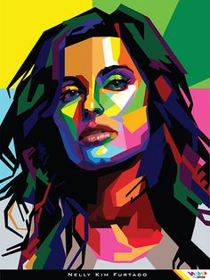 NELLY FURTADO in WPAP (Wedha's Pop Art Portrait)