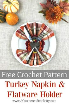 Turkey Napkin Ring & Flatware Holder - Free Crochet Pattern - A Crocheted Simplicity The Sun's Out! Crochet Drink Coasters are a super quick crochet project and are great for gifts, or to add some summer fun to your entertaining space! Thanksgiving Crochet, Crochet Fall, Quick Crochet, Cute Crochet, Irish Crochet, Thanksgiving Ideas, Holiday Crochet Patterns, Crochet Coaster Pattern, Crochet Designs