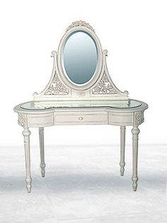 Mirrored Top Dressing Table Chateau white.  Height: 1500mm  Depth: 510mm  Width: 1200mm  810 pounds