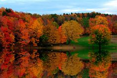 Brown's Pond with Fall Reflections by BigD.    This was taken only several miles north of his home last fall. Rome, PA
