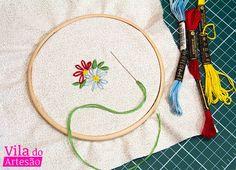 Dicas de como bordar uma flor simples