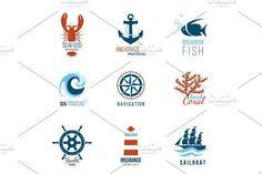 Sea theme designs by mart_m on @creativemarket