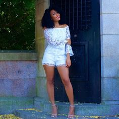 #browngirlslove Lace Rompers! #repost from @heygorjess  #lace #romper #summerstyle #fashion