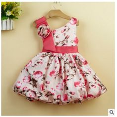 Cheap dress newborn, Buy Quality first birthday dress directly from China newborn dress Suppliers: Summer Baby Print Dress Newborn Full Moon Robe Fille Print Toddler Birthday Dress Princess First Year Costume Vestido Clothing Frocks For Girls, Kids Frocks, Frock Models, Carters Baby Clothes, Kids Dress Wear, Baby Dress Design, Balloon Dress, Birthday Dresses, Baby Girl Dresses