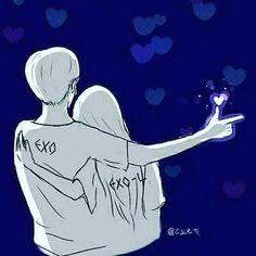 Chanyeol ve ben Chanyeol, Lightstick Exo, Kpop Exo, Chanbaek, L Chibi, Exo Cartoon, Chen, Exo Album, Exo Official