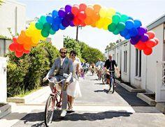 Cute idea for a rainbow wedding
