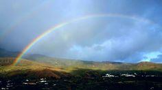 Cuando la viña puerde su hoja, el cielo nos compensa con estos #arcoiris