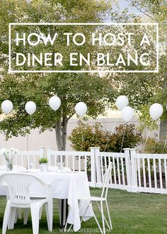 How-to-Host-a-Diner-en-Blanc - in case you may& make it to the grand occasion,. How-to-Host-a-Diner-en-Blanc – in case you may& make it to the grand occasion, have one at residence! Party Food Table Ideas, Diy Party Food, Dinner Party Decorations, Dinner Themes, Romantic Decorations, Party Ideas, Gala Dinner, Dinner Menu, White Dinner