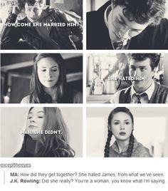 james and lily - I like j,k rowling´s answer