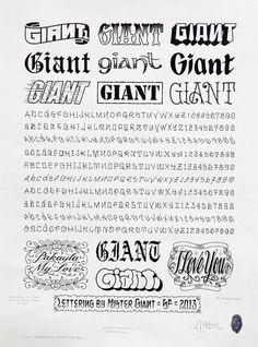 """Lettering Sheet #1″, 2013."