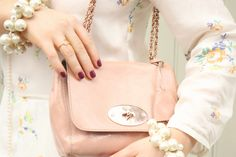 A few of my favourite things: Knockout pearls, pink @Mulberry bags and printed silk dresses
