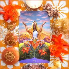 The Magic of Flowers Oracle - Lily card  / Photo © www.VioletAura.com