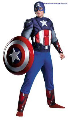 Captain America Classic Muscle Plus Size Adult Costume  #patriotic #memorialday