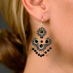 miguel ases | Miguel Ases Black Onyx Drop Earrings