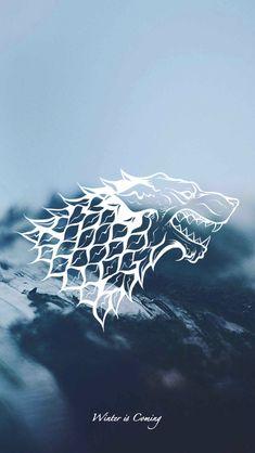 Game of Thrones - wallpaper - House sigil - Stark by EmmiMania.deviantart.com on @DeviantArt #gameofthroneswallpaper