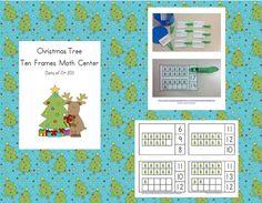 FREEBIE!!! Christmas Tree Ten Frames Math Center (Quantities of 0 to 20) #Christmas #TenFrames #ChristmasTree #ChristmasMath http://www.teacherspayteachers.com/Product/Christmas-Tree-Ten-Frames-Math-Center-968501