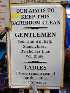 OMG, I So So Need this sign in our Bathroom!!! 4 boys 2 girls!