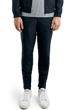 Topman Navy Skinny Fit Crop Pants | Nordstrom