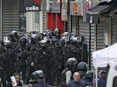 Operativo antiterrorista en Saint-Denis, periferia norte de París, 18 de noviembre de 2015.
