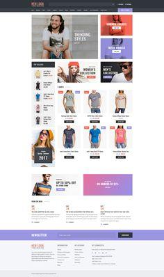 OpenCart Template , T-shirt Shop